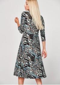 Midi sukienka w panterkę