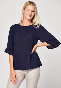 Navy blue summer blouse