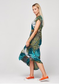Maxi sukienka w tropikalny wzór