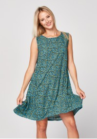 Blue dress with anima print