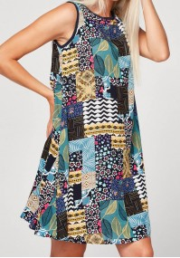 Comfortable colorful dress