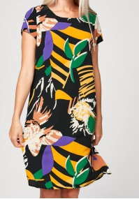 Simple dress with colorful pattern
