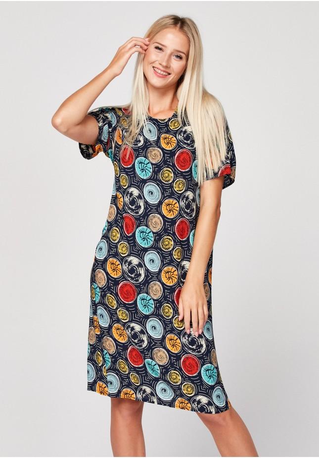 Sukienka w kolorowe koła