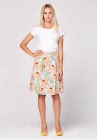 Orange skirt with flowers