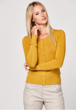 Klasyczny musztardowy sweter