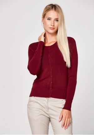 Klasyczny burgundowy sweter