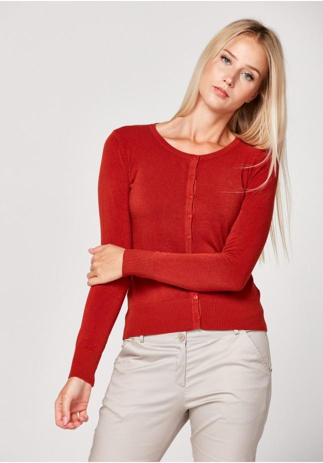 Klasyczny ceglasty sweter
