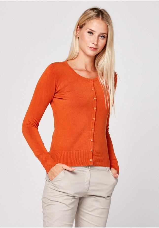 Klasyczny ciemnopomarańczowy sweter