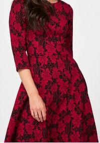 Elegant dress with flowers
