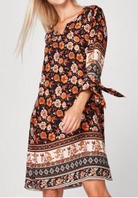 Luźna sukienka boho