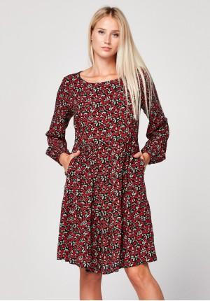 Sukienka w czerwone kwiatki