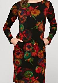 Prosta sukienka w kwiaty