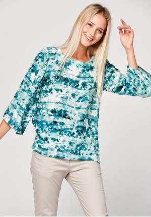 Light blue loose blouse
