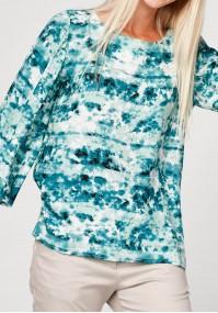 Swobodna bluzka w odcieniach błękitu