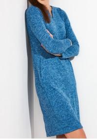 Ciepła niebieska Sukienka