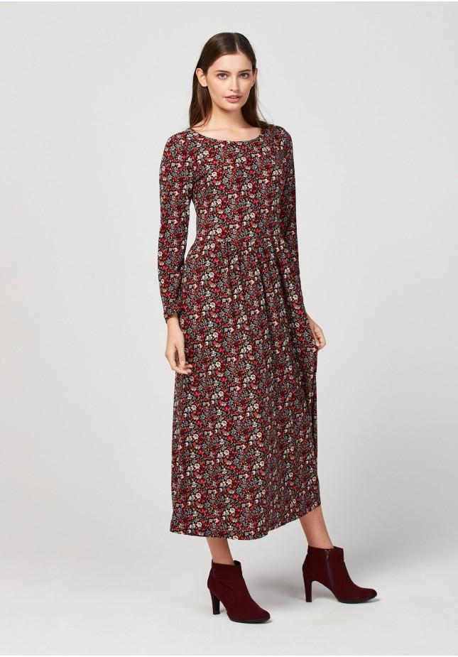 Black tapered waist dress