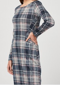 Knitted checkered dress