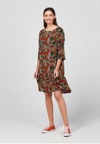 Sukienka w jesiennych kolorach