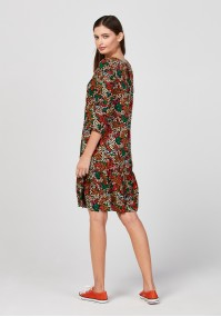 Dress with autumn colours