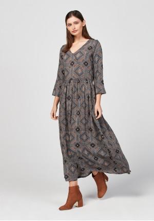Sukienka 1619 (brązowa)