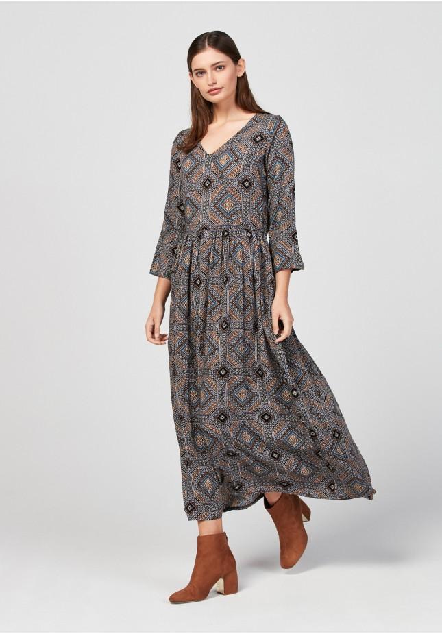 Brązowa sukienka maxi