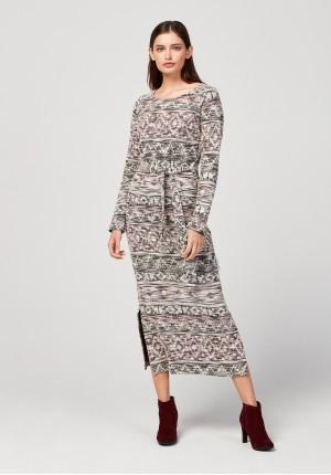 Midi tied dress