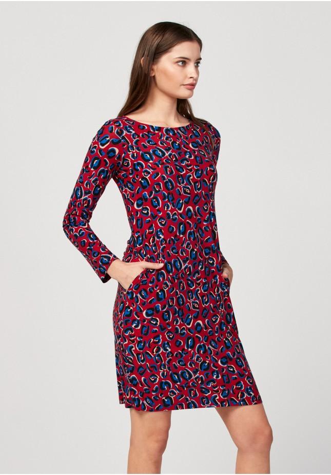 Dress with animal print