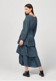 Maxi sukienka z falbanami