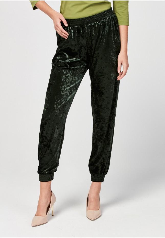 Velor green pants