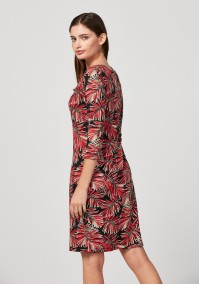 Dress with palm leaves
