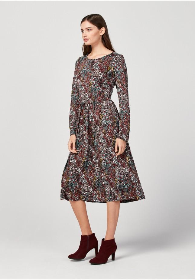Midi sukienka łączka