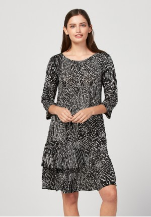 Sukienka z podwójną falbaną
