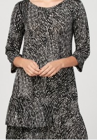 Dress with double frill
