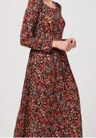 Midi dress with flowers