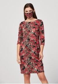 Sukienka w liście palmy