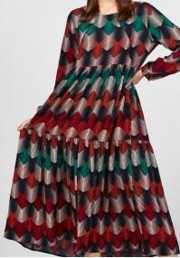 Sukienka w kolorowy wzór