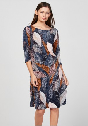 Simple dress with leaves