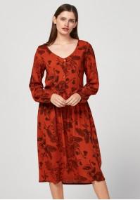 Brązowa sukienka z guzikami