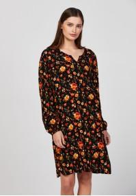 Swobodna sukienka w kwiaty