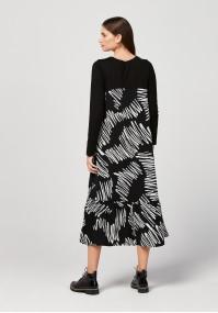 Maxi trapezoidal dress