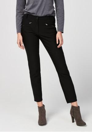 Pants with zips