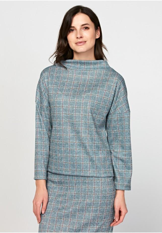 Swobodna bluza z półgolfem