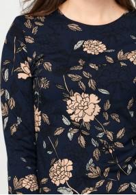Dopasowana bluzka w kwiaty