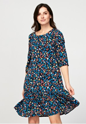 Dress with tulips