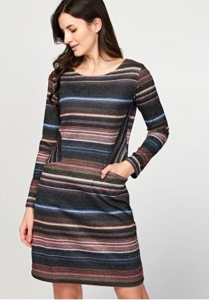 Prosta sukienka w paski