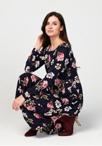 Midi sukienka w kwiaty