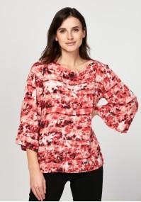 Swobodna bluzka w odcieniach czerwieni
