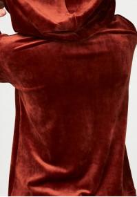 Welurowa bluza