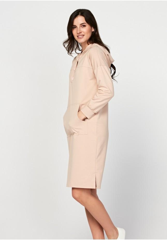 Simple dress with a hood