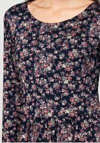 Midi sukienka w róże